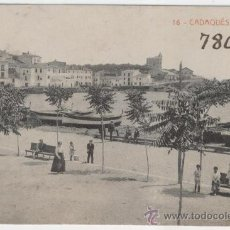 Postales: CADAQUÉS. GIRONA. LA PLATJA. AÑOS 1920. FOTOTÍPIA THOMAS.. Lote 26935060