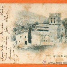 Postales: IGLESIA DE VALLVIDRERA - BARCELONA - Nº 6 UNION POSTAL UNIVERSAL. Lote 27166017