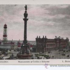 Postales: BARCELONA . MONUMENTO A COLON Y ADUANA . Lote 27502940