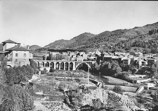POSTAL SAN JUAN DE LAS ABADESAS VISTA PARCIAL (Postales - España - Cataluña Moderna (desde 1940))