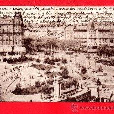 Postales: POSTAL DE BARCELONA PLAZA DEL CATALUÑA EDICION E. ALMIRALL ESCRITA EL AÑO 1940. Lote 28171399