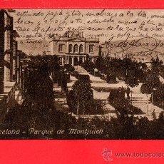 Postales: POSTAL DE BARCELONA PARQUE DE MONTJUICH ESCRITA EL AÑO 1940. Lote 28176523