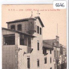 Postales: CANET- ANTICH CASAL DE LA FAMILIA MIR - A.T.V.- 2835 - (6646). Lote 27732361