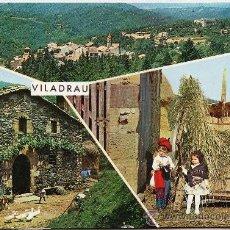 Postales: VILADRAU - VISTAS VARIAS - ED. ZERKOWITZ - CIRCULADA - AÑO 1969. Lote 27907825