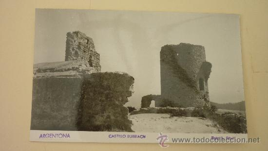 ARGENTONA. CASTILLO BURRIACH. FOTO: A. GÜELL. CIRCULADA. AÑOS 1950S (Postales - España - Cataluña Moderna (desde 1940))