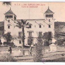 Postales: BARCELONA - SARRIA. TORRE DE SENTMENAT- A.T.V.- 296 - (7274). Lote 27946532