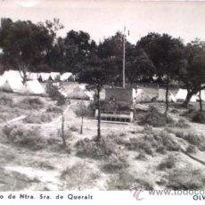 Postales: OLVAN (BERGUEDA) CAMPAMENTO DE NTRA SRA DE QUERALT ESCRITA 1958. Lote 27985334