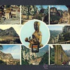Postales: POSTAL DE MONTSERRAT: 9 VISTES (ESCUDO DE ORO NUM.3050). Lote 28024644