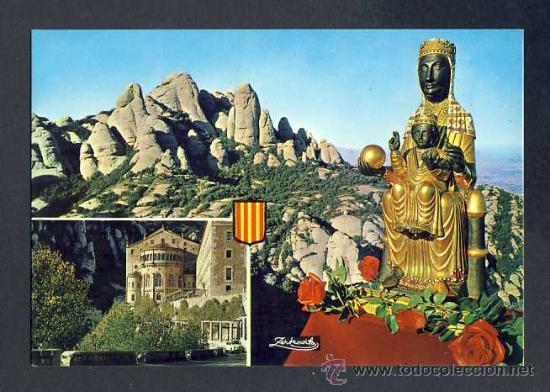 POSTAL DE MONTSERRAT: IMATGE DE LA MARE DE DÉU, MONESTIR I MUNTANYA (ZERKOWITZ NUM.2196) (Postales - España - Cataluña Antigua (hasta 1939))