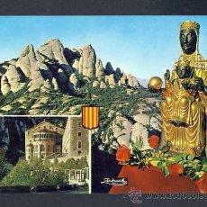 Cartoline: POSTAL DE MONTSERRAT: IMATGE DE LA MARE DE DÉU, MONESTIR I MUNTANYA (ZERKOWITZ NUM.2196). Lote 28024748