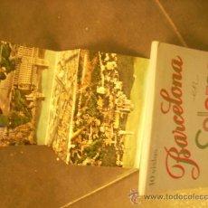 Postales: BARCELONA LIBRO DE 10 VISTAS POSTAL ANTIGUAS LLIBRET COMPLETO ALBUM DE POSTALES OCASION !!!!!!. Lote 28107128