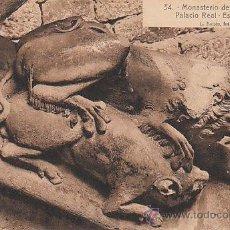 Postales: MONASTERIO DE SANTES CREUS, DETALLE DE LA ESCALERA DEL PALACIO REAL, EDITOR: ROISIN Nº 34. Lote 28239106