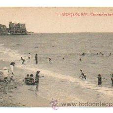 Postales: ARENYS DE MAR. VERANEANTES BAÑÁNDOSE. (THOMAS, Nº 4817. ED. JOSE BRAS TAXONERA). Lote 28268804