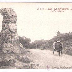 Postales: LA JUNQUERA - ATV- 1857 - CARRETERA LA PEDRA DRETA - (7499). Lote 28271969