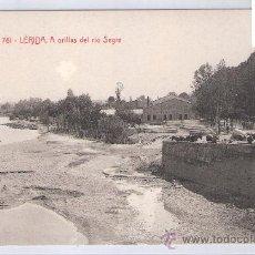 Postales: LERIDA- ATV- 761 - A ORILLAS DEL RIO SEGRE - (7504). Lote 28272073