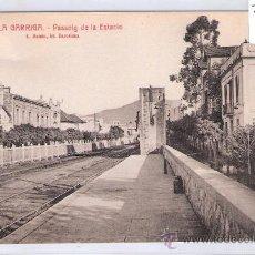 Postales: LA GARRIGA - 2 - PASSEIG DE LA ESTACIO - ROISIN - (7543). Lote 28278813