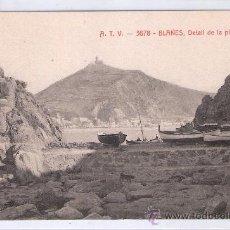 Postales: BLANES - ATV- 3678 - DETALL DE LA PLATJA - (7664). Lote 28289014