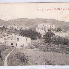 Postales: CABRILS - ATV- 2632 - CASA VILUMARA - (7731). Lote 28298251