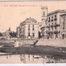Postales: GERONA - ATV- 4318 - RAMBLA DE VERDAGUER - (7765). Lote 28338982