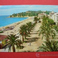 Postales: LLORET DE MAR - COSTA BRAVA - PASEO VERDAGUER - AÑO 1965. Lote 28300193