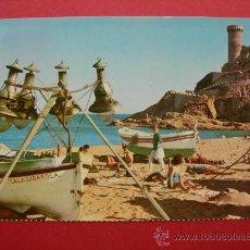 Postales: TOSSA DE MAR - COSTA BRAVA - AÑO 1966. Lote 28300221
