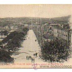Postales: ATV - 850. SAN FELIU DE GUIXOLS. VISTA GENERAL DEL PASEO DEL MAR. . Lote 28429377