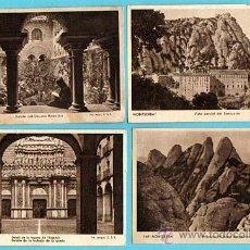 Postales: LOTE 4 POSTALES MONTSERRAT - FOT.RIPOL,O.S.B/FOT.JUNQUE,O.S.B- ESCRITAS CON SELLO AÑOS 1941/43/44 . Lote 28603939