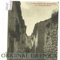 Postales: (PS-24035)POSTAL FOTOGRAFICA DE CASTELLFOLLIT DE RIUBREGOS-CARRER DEL RAVAL. Lote 28687508