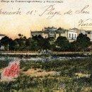 Postales: EL VENDRELL (TARRAGONA), PLATJA DE COMARRUGA, ESTANY I RESTAURANTS, ED. RAMON GERMANS Y NEBOT, 1911. Lote 28898937