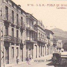 Postales: POSTAL POBLA DE SEGUR CARRTERA DE GERRI. Lote 28957329