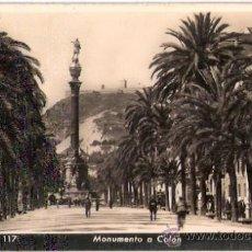Postales: TARJETA POSTAL. BARCELONA. Nº 117. MONUMENTO A COLON. ED. ZERKOWITZ.. Lote 28960072