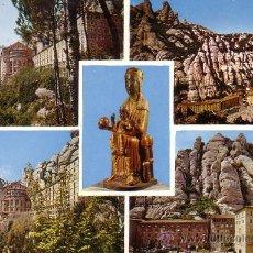 Postales: MONTSERRAT (BARCELONA) - VARIAS VISTAS - ESCUDO DE ORO 1967. Lote 28980669