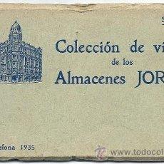 Postales: 5600 - ALMACENES JORBA - BLOCK DE 12 POSTALES - BARCELONA AÑO 1.935 - SERIE 1. Lote 29094016