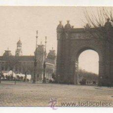 Postales: BARCELONA. ARCO DEL TRIUMFO Y PALACIO DE JUSTICIA. (POSTAL FOTOGRÁFICA). Lote 29139475
