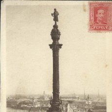 Postales: BARCELONA MONUMENTO A COLON CIRCULADA A FRANCIA . Lote 29252145