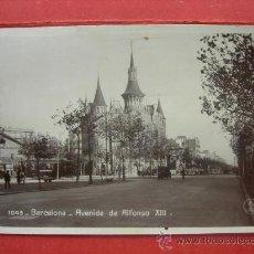 Postales: BARCELONA - AVENIDA DE ALFONSO XIII. Lote 29288336