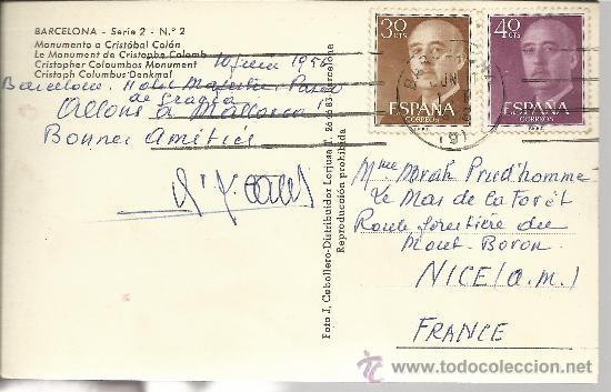 Postales: BARCELONA MONUMENTO A COLON CIRCULADA - Foto 2 - 29361008