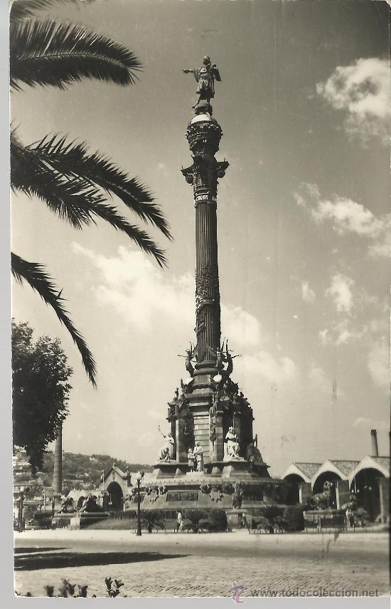 BARCELONA MONUMENTO A COLON CIRCULADA (Postales - España - Cataluña Antigua (hasta 1939))