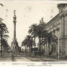 Postales: BARCELONA MONUMENTO A COLON CIRCULADA. Lote 29361016