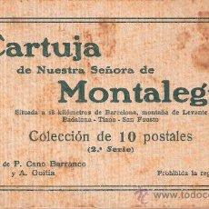 Postales: TIANA - CARTUJA DE MONTALEGRE - BLOCK COMPLETO 10 POSTALES - VER FOTOS ADICIONALES - (B-133). Lote 29486593