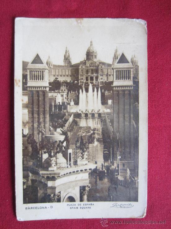 BARCELONA - PLAZA ESPAÑA (Postales - España - Cataluña Antigua (hasta 1939))
