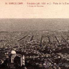Postales: 31 BARCELONA - TIBIDABO, VISTA DE LA CIUDAD, L.ROISIN, S/C. Lote 29623808