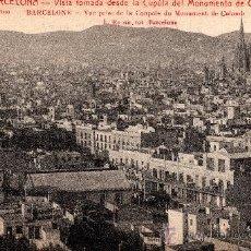 Postales: 4 BARCELONA, VISTA TOMADA DESDE LA CÚPULA DEL MONUMENTO DE COLÓN, L.ROISIN, S/C. Lote 29623962