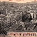 Postales: 5 BARCELONA, VISTA TOMADA DESDE LA CÚPULA DEL MONUMENTO DE COLÓN, L.ROISIN, S/C. Lote 29623981