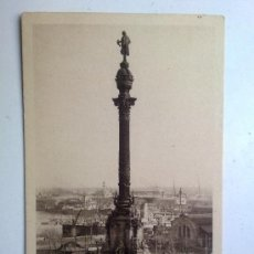 Postales: ANTIGUA POSTAL, BARCELONA, MONUMENTO A COLON 1930S, HUECOGRABADO MUMBRU, Nº 8. Lote 29646255