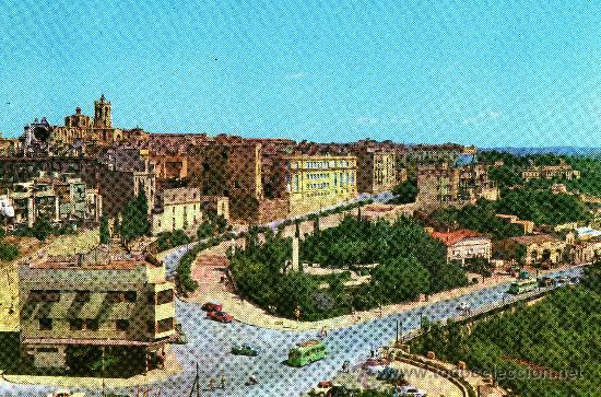 TARRAGONA, VISTA PARCIAL, FOTO COLOR RAYMOND -TARRAGONA-, 1962 (Postales - España - Cataluña Moderna (desde 1940))
