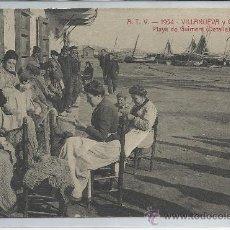 Postales: VILANOVA Y GELTRÙ-A.T.V.-1954-PLAYA DE GUIMERÁ(REF-959). Lote 29745713