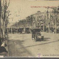 Postales: BARCELONA PASEO DE GRACIA CIRCULADA COCHE. Lote 29846517