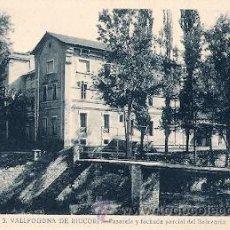 Postales: VALLFOGONA DE RIUCORP (TARRAGONA) - PASARELA Y FACHADA PARCIAL DEL BALNEARIO. Lote 29867310