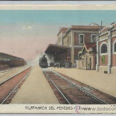 Postales: VILAFRANCA DEL PENEDES-ESTACIÓ(REF-1096). Lote 29893579